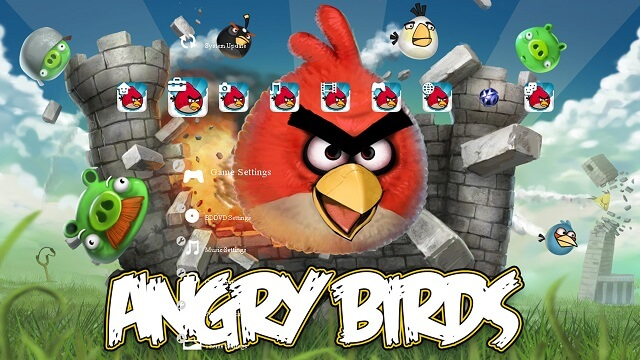 Free PS3 Themes Angry Birds booya gadget