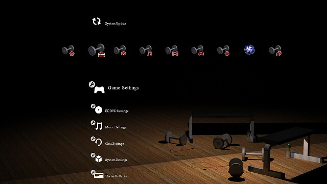 Free PS3 theme EA Sports Active booya gadget