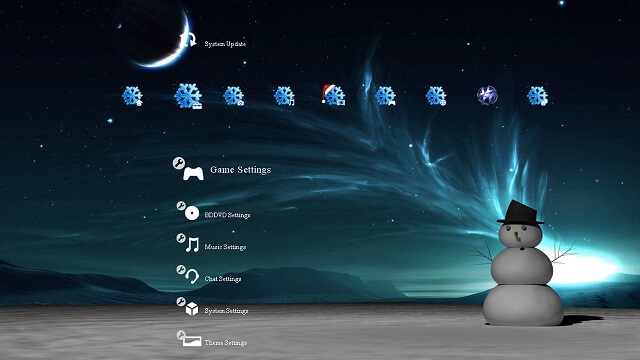 Free Christmas Holiday PS3 Theme Preview booya gadget