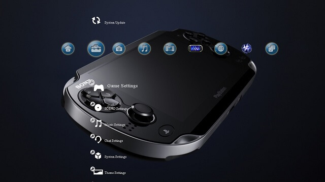 Free PS3 theme Next Generation Portable booya gadget
