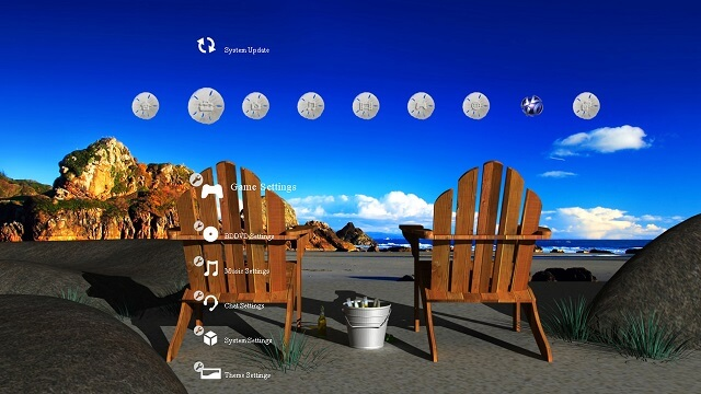 Free PS3 theme By The Seaside booya gadget
