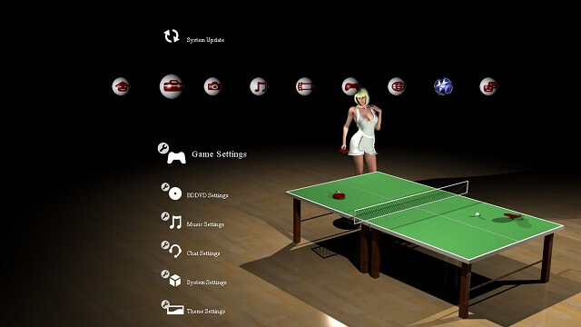 Free PS3 theme Move Table Tennis booya gadget