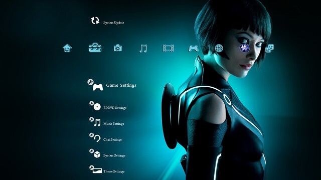 Free PS3 Themes Tron Legacy booya gadget