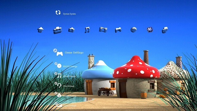 Free PS3 Themes Smurfs booya gadget