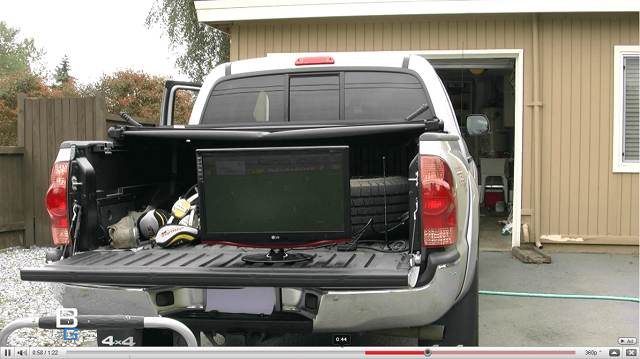 Mobile Television Car Video booya gadget tailgating tips