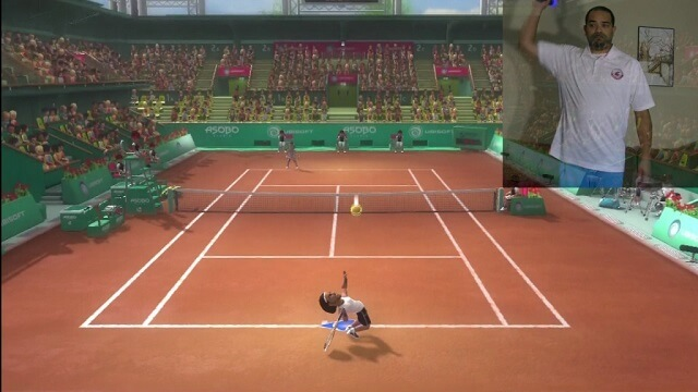 PS3 Move Racquet Sports Gameplay tennis serving booya