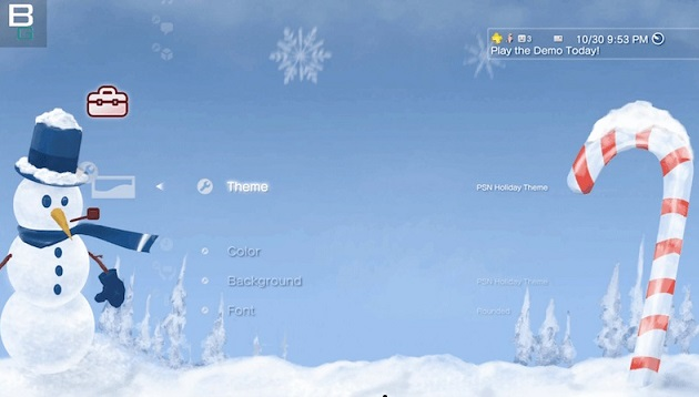 Dynamic Holiday Theme by PSN Demo by Booya Gadget