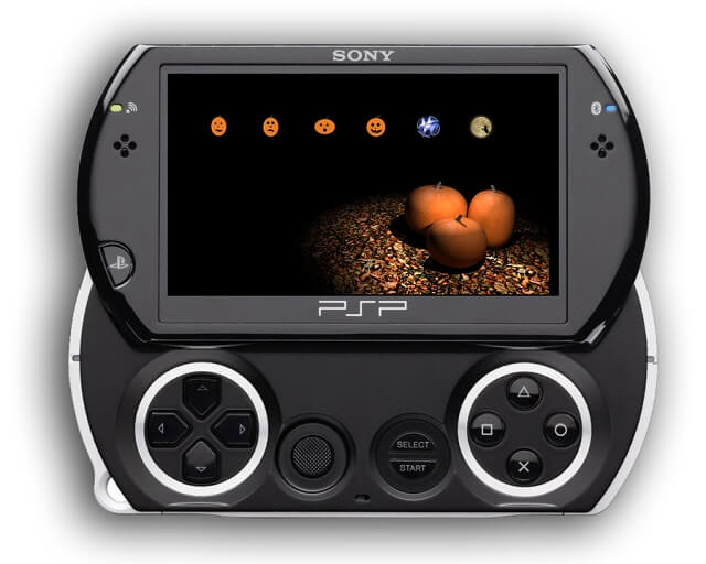 Screenshot Example of our Free PSP Halloween Theme