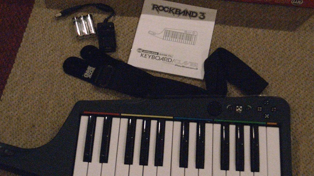 Rockband 3 Keyboard Unbox Inside