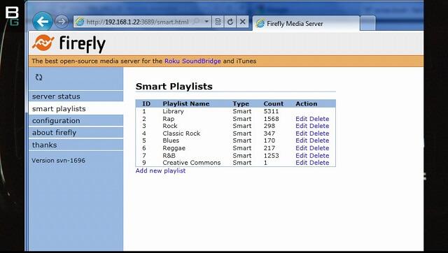 freeNAS Android Stream Audio DAAP Firefly Playlist