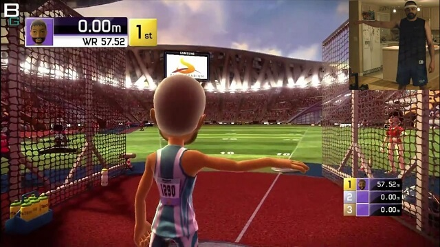 Kinect Sports Track n Field XBox Discus Booya Gadget