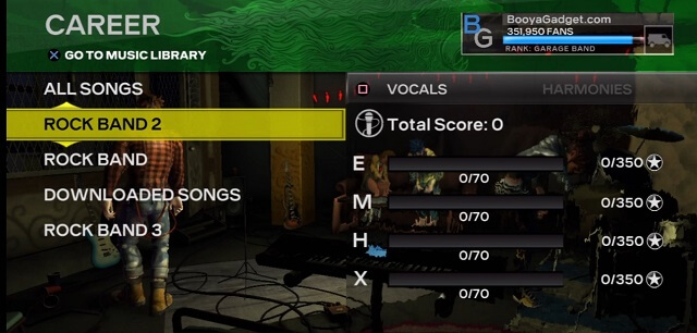 Rock Band 3 Import Songs Complete View Results Menu