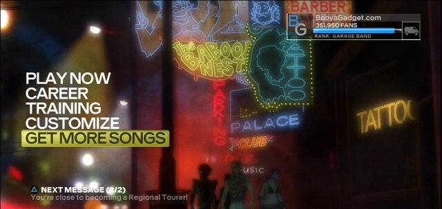Rock Band 3 Import RB2 GET MORE SONGS menu