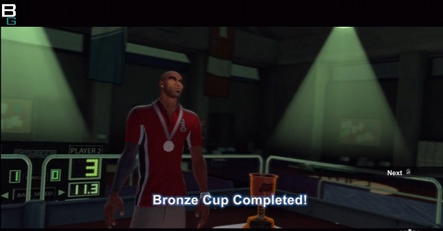 Sports Champions Table Tennis Bronze Cup