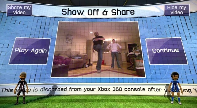 XBox Kinect Sports Soccer KinectShare How To Facebook Booya