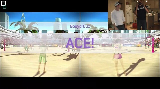 XBox Kinect Sports Gameplay Serving ACE Booya Gadget