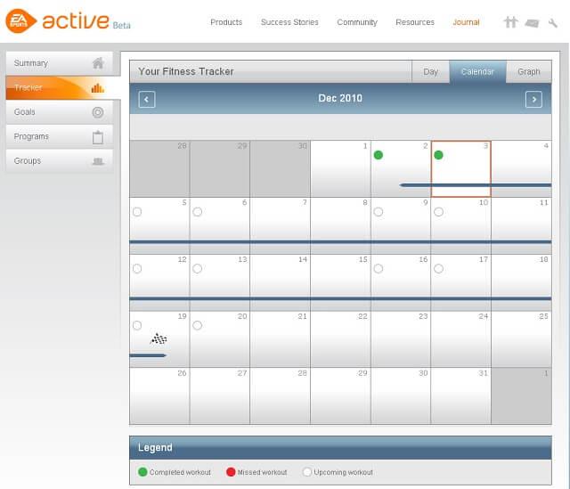 EA Sports Active 2 Online Calendar Booya Gadget