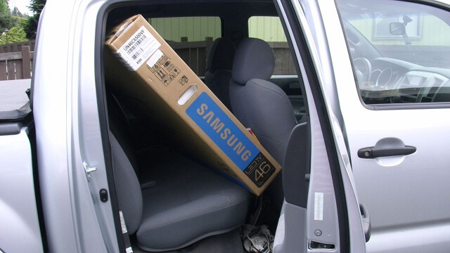 Samsung 6500 LED TV Unbox and Review Fit in Vehicle booya gadget