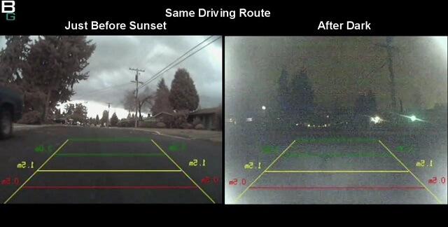 Backup Camera Demo Night Vision vs Day DBC366 booya gadget
