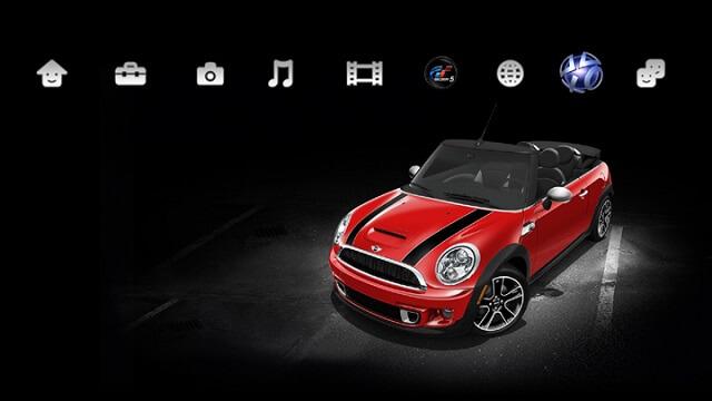 Free Gran Turismo 5 Mini Cooper PS3 Theme Booya Gadget