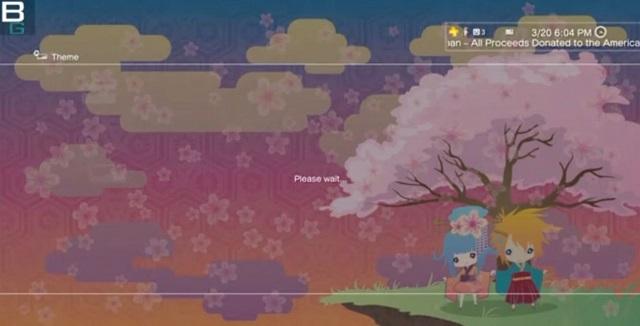 relief ps3 theme japan tsunami sunrise blossom booya gadget