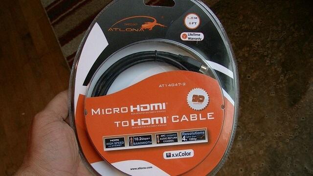 Atlona Micro HDMI 6 ft Xoom HDMI by BooyaGadget