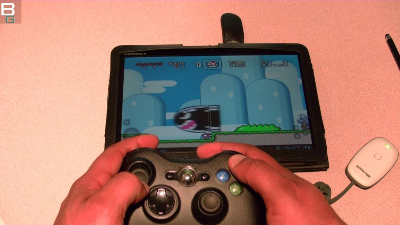 XBox Controller on Motorola Xoom Android How To connect Booya Gadget