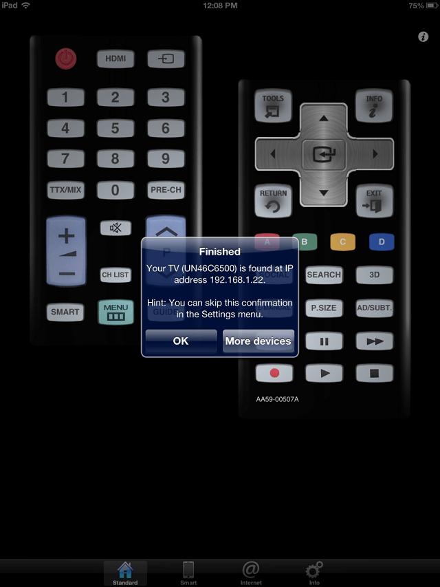 myTifi iphone ipad samsung remote app Samsung Remote Booya Gadget