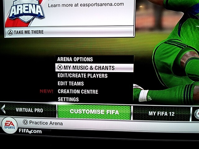 how to customize music arena FIFA Booya Gadget