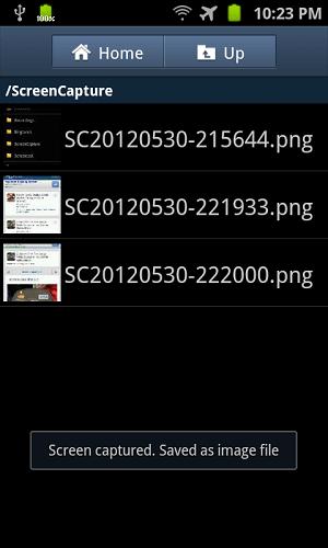 tmobile samsung galaxy s2 screen capture folder