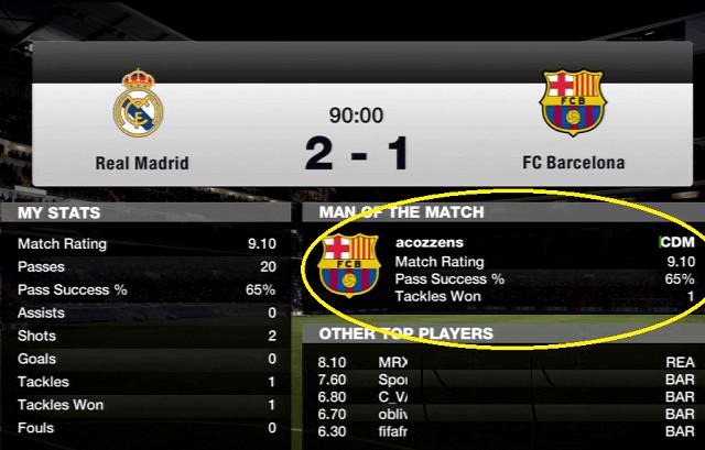 FIFA Man of the Match Defense CDM