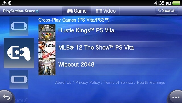 PS Vita CrossPlay games booya