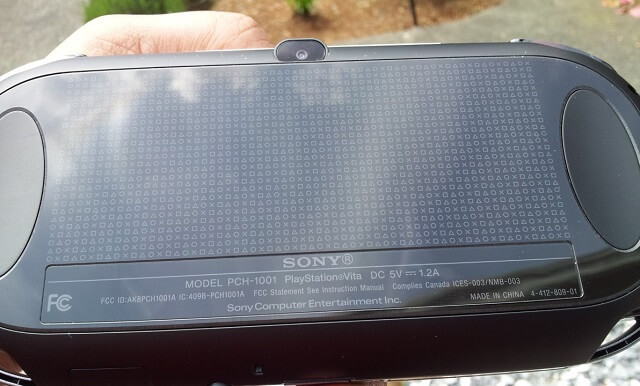 PS Vita Review. Technical Specs Rear Touch