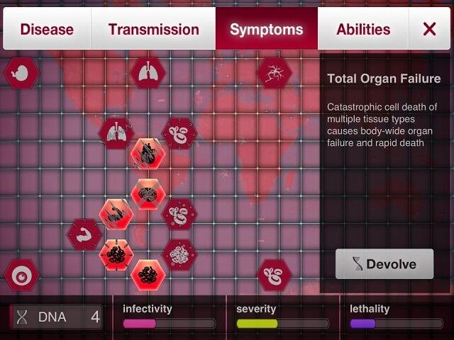 Plague Inc Fungus iPad iPhone Crank Up Symptoms