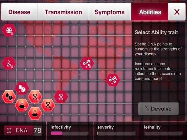 Plague Inc Fungus Abilities iPad iPhone How to Solve Tips