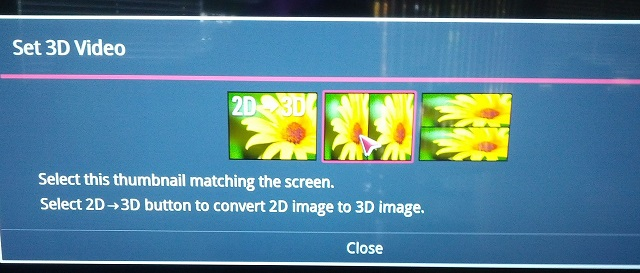 Comcast Split Screen 3D LG XFinity