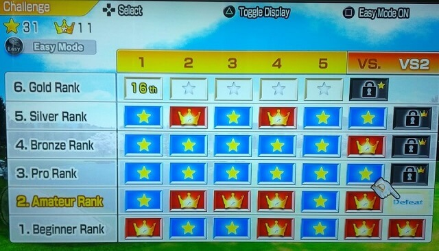 Crown Guide PS3 Hot Shots Golf World Invitational Challenge Mode