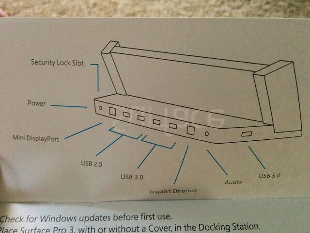 surface pro 3 dock ports manual